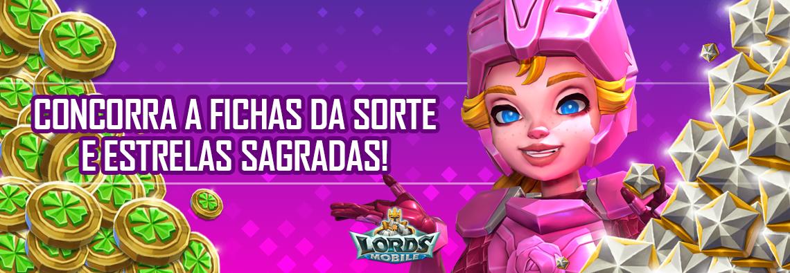 Lords Mobile promo estrela da sorte